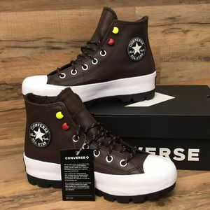 LEATHER CONVERSE CTAS LUGGED HIGH TOP  BRAND NEW